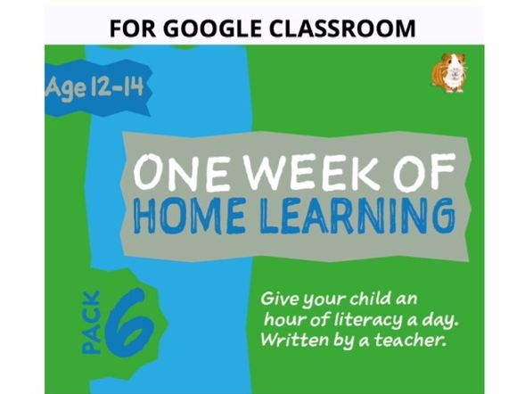 Digital Distance Learning Resource For Google Classroom: Pack 6 (12-14 years)