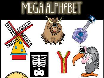 Mega Alphabet Clip Art