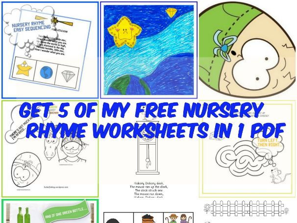 FIVE NURSERY RHYMES IN ONE PACK