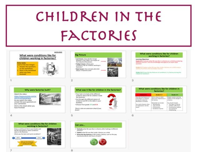 Children in the factories