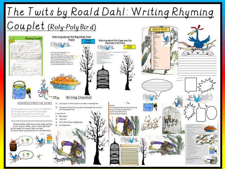 The Twits by Road Dahl-Writing a Rhyming Couplet