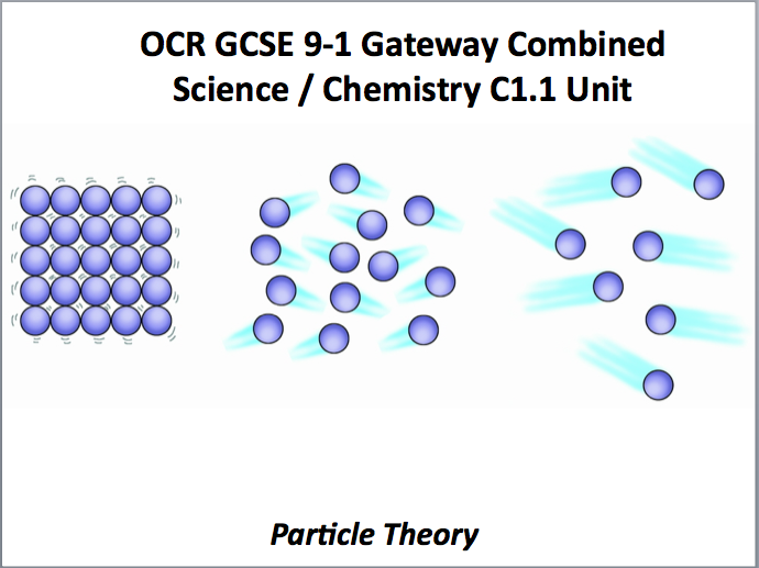 OCR GCSE 9-1 Gateway Combined Science / Chemistry C1.1 Unit