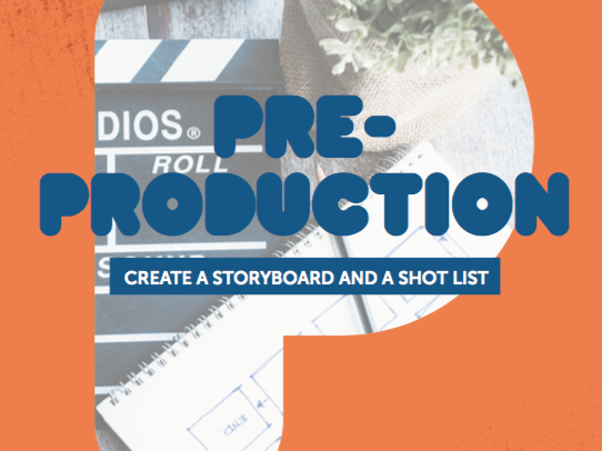 Pre-Production 3: Create a Storyboard and a Shot List