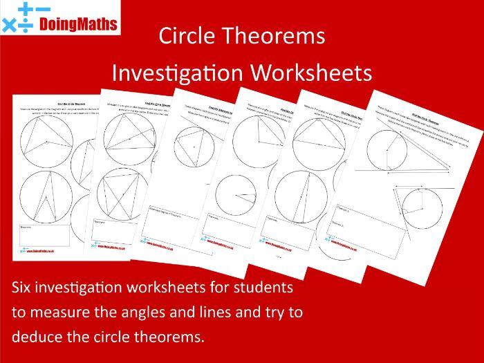 Circle Theorems Investigation Pack - GCSE Mathematics Geometry