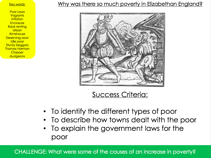 Why was there so much poverty in Elizabethan England 2?