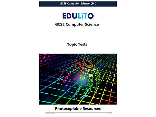 14 GCSE Computer Science Tests (from 2016)