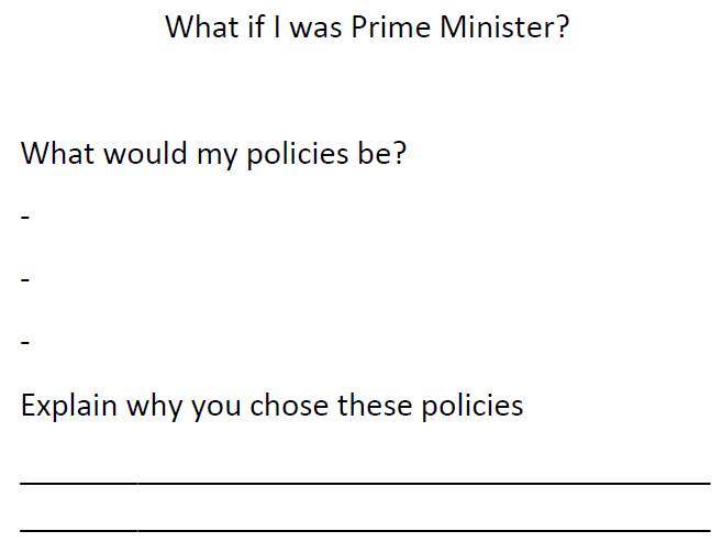 What what I do if I was Prime Minister?