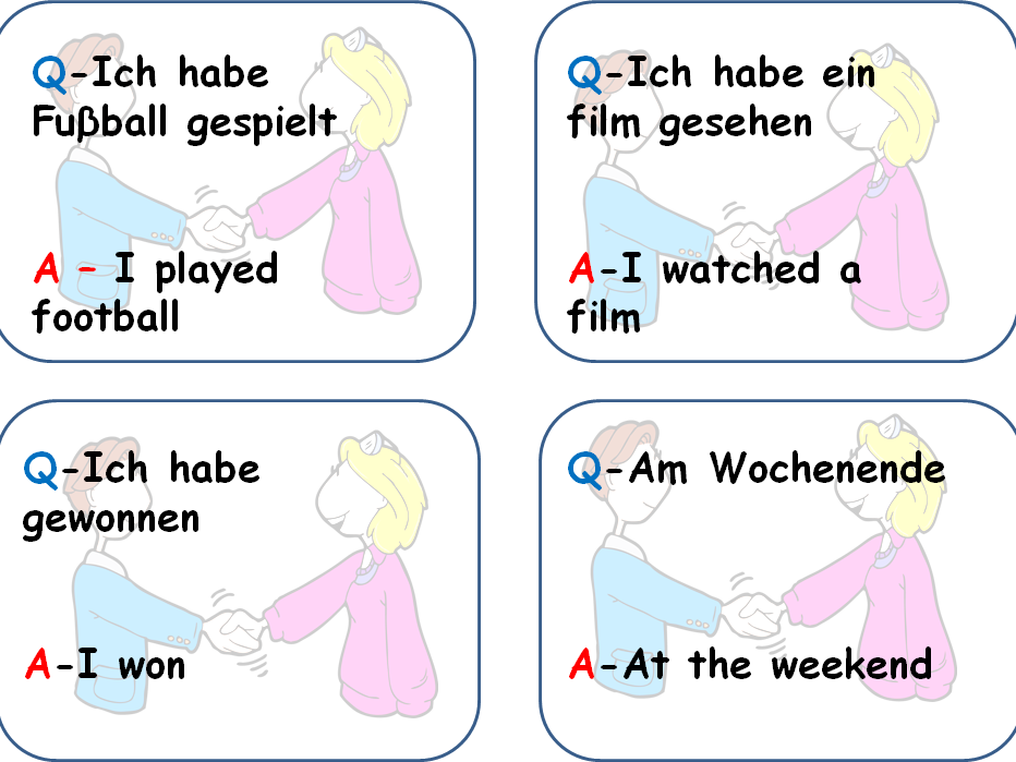 Bundle of Quiz Quiz Trade German speaking cards for KS3 / GCSE revision