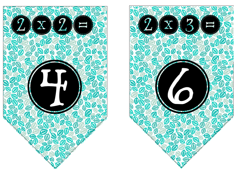 Times Table Flags (2x)