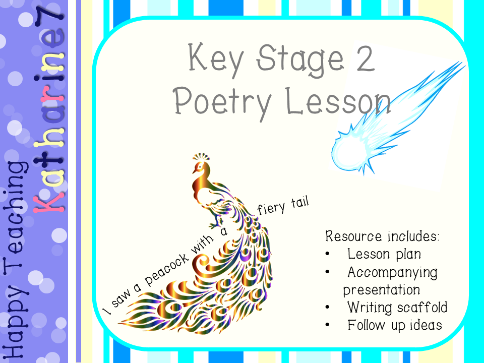 ks2 poetry lesson based on 39 i saw a peacock with a fiery tail 39 by katharine7 teaching resources. Black Bedroom Furniture Sets. Home Design Ideas
