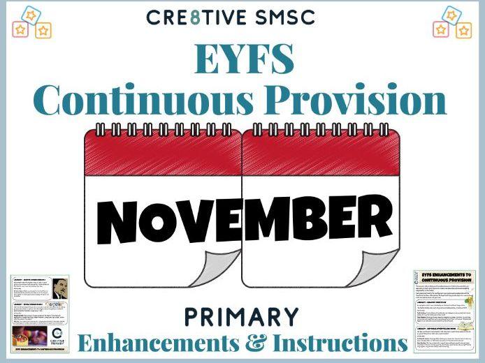 EYFS Pre School Activities - November