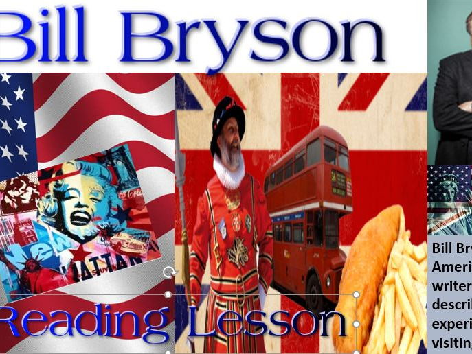 Bill Bryson Identity - Comprehension Reading Lesson