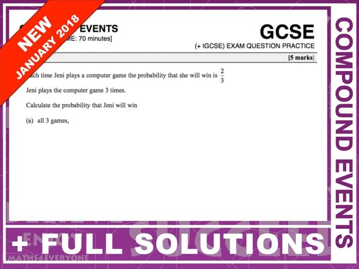GCSE 9-1 Exam Question Practice (Compound Events)