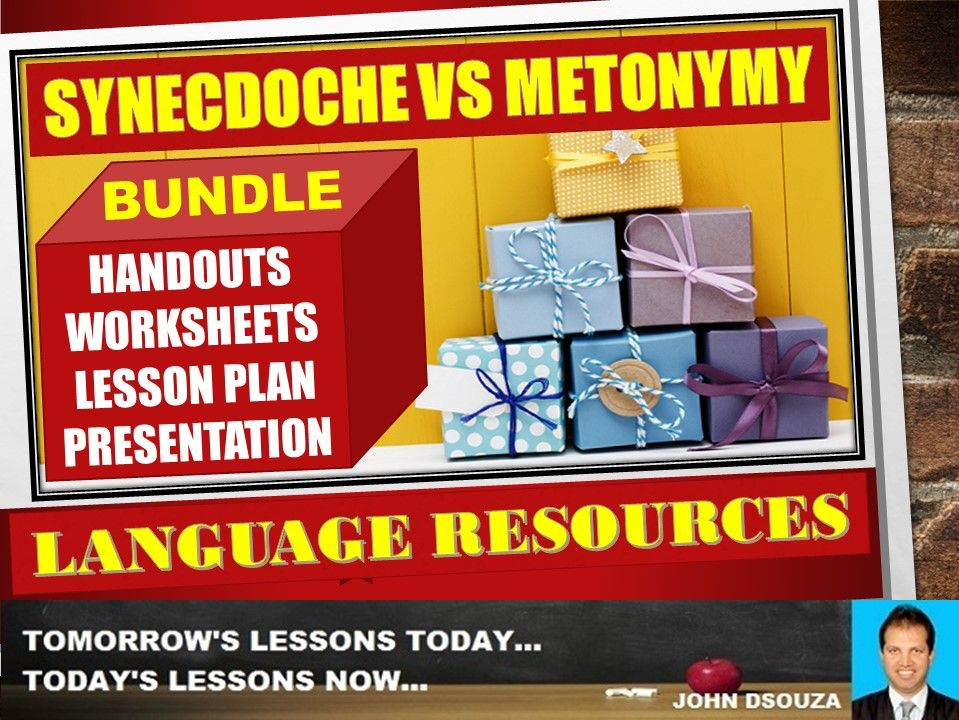SYNECDOCHE VS METONYMY BUNDLE