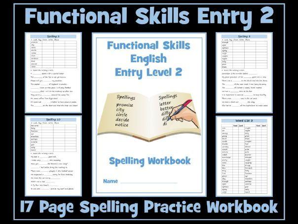 English Functional Skills - Entry Level  2 - Spelling Workbook