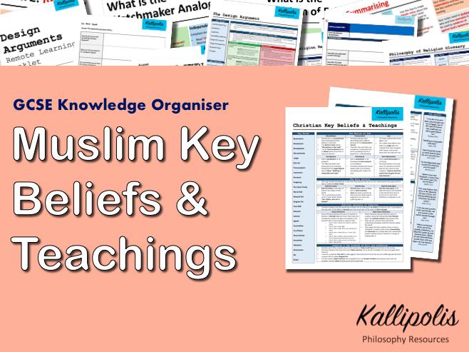 Muslim Beliefs & Teachings - GCSE RS Knowledge Organiser