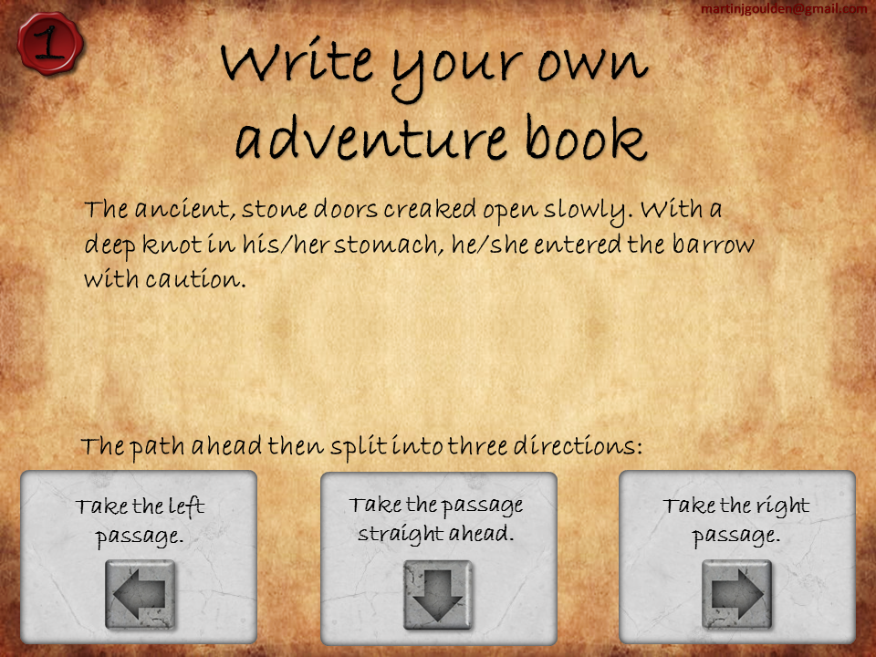 Choose your own adventure stories - Myths/Quests/Barrowquest/Settings/Suspense - Differentiated