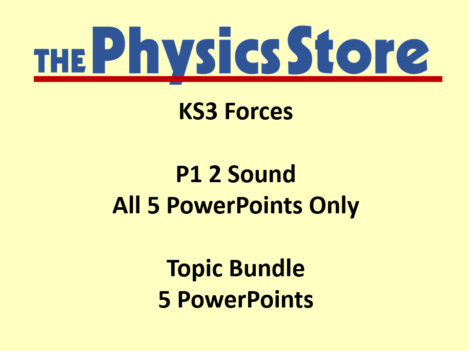 KS3 Physics P1 2 Sound Topic - 5 PowerPoints Only Bundle