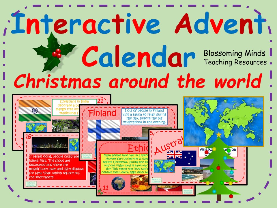 Interactive Advent Calendar - Christmas Around the World Facts