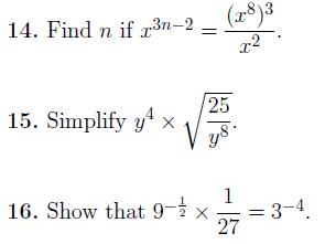 Indices Bundle (3 Worksheets)