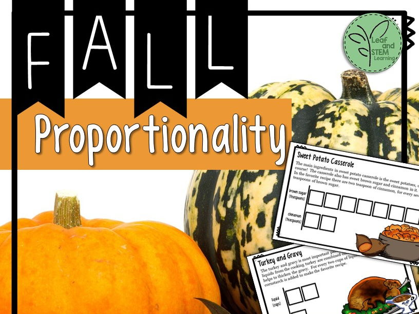 Thanksgiving Math for Middle School {Qualitative Proportionality}
