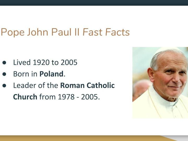 Inspirational People - Pope John Paul II