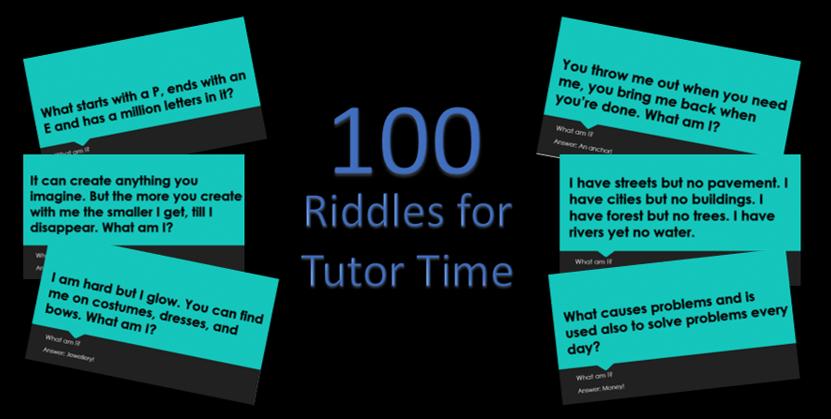 100 Tutor Time Riddles