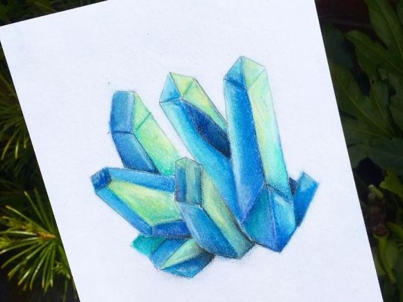 Chalk Pastel Crystal Lesson