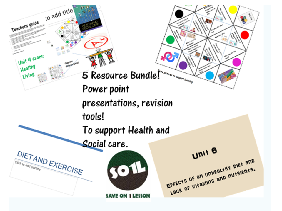 5 resources Bundle- Health and Social Care