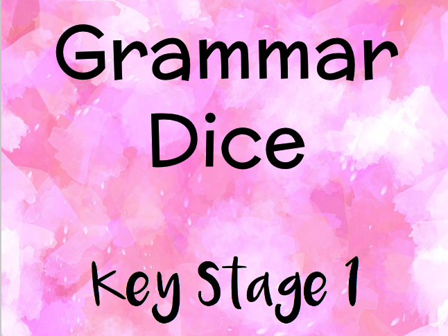 Grammar Dice for Key Stage 1