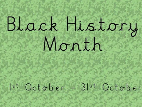 Black History Month Powerpoint and worksheet
