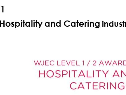 Eduqas WJEC level 1/2 Hospitality and Catering . Book style unit 1 LO1-4