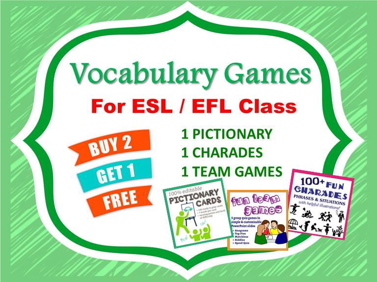 Vocabulary Games Bundle for ESL / EFL Class!