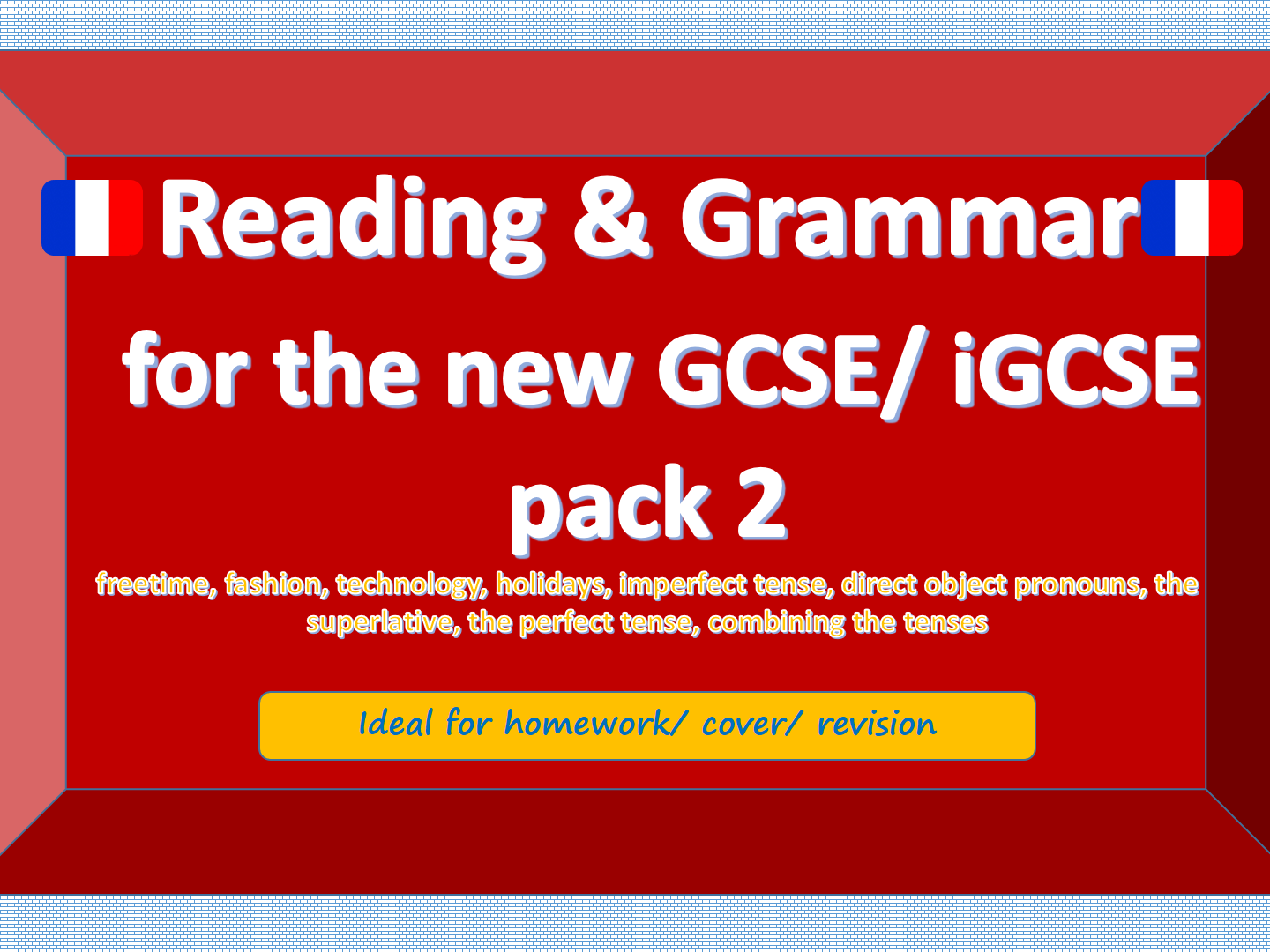 NEW GCSE / iGCSE Reading and Grammar French bundle 2