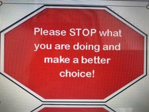 Stop behaviour ticket