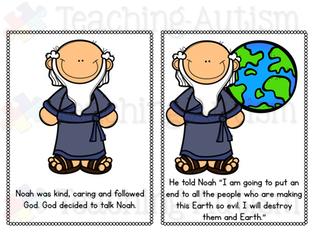 Noah's Ark Bible Flashcard Story