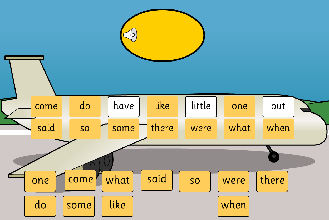 Tricky Words Recognition Game Interactive - Phase 4