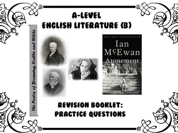 AQA A-Level English Literature B (Paper 2A - Crime) Revision Booklet - Poetry cluster / Atonement