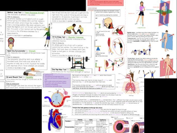 AQA 9-1 GCSE PE - PAPER 1 Revision Topic on a Page