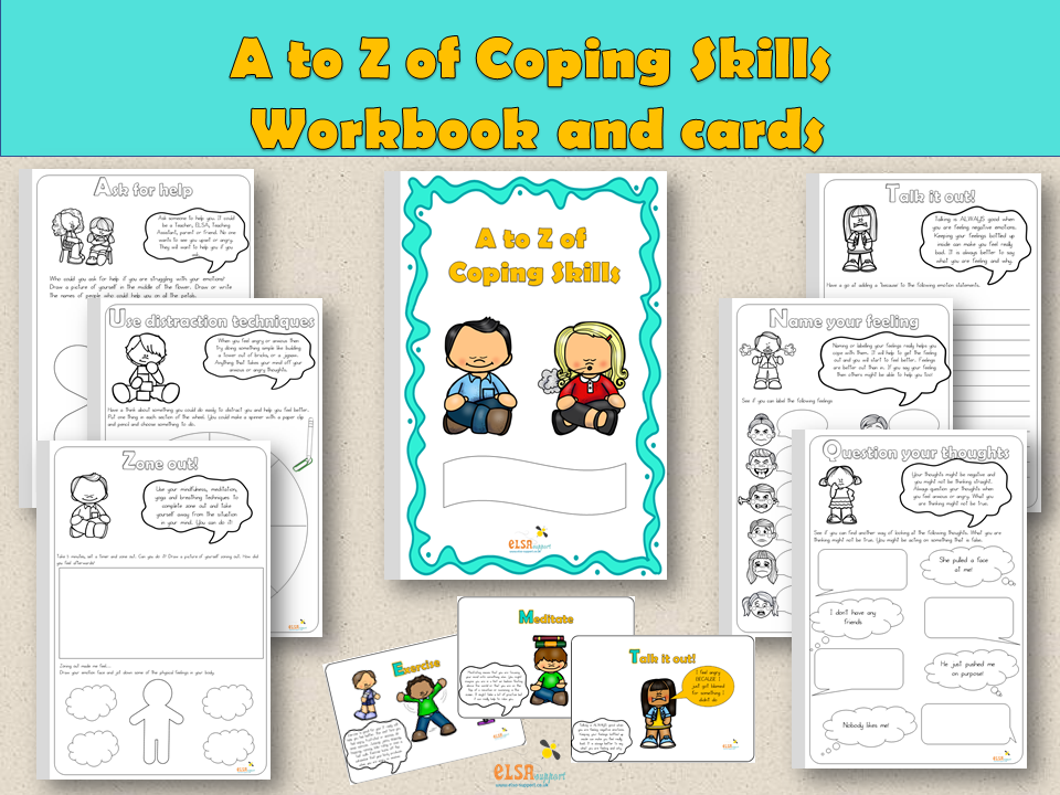 ELSA SUPPORT - COPING SKILLS WORKBOOK