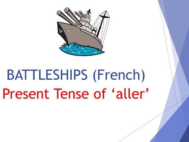 Present Tense of 'aller' BATTLESHIPS (French)