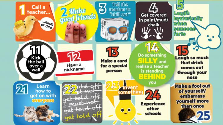 100 things you should have done at school before the age of 11