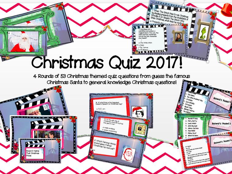 Christmas Quiz 2017!