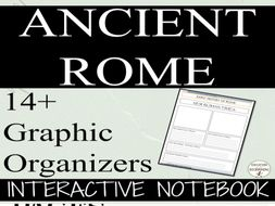 Ancient Rome: Interactive Notebook Graphic Organizers for Ancient Rome