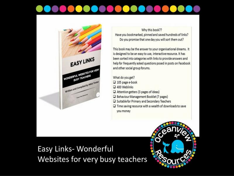 Easy Links, Wonderful Websites for very busy Teachers