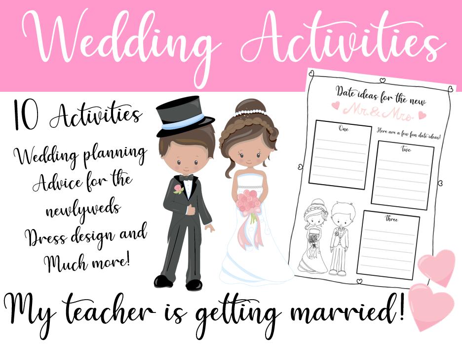 Wedding Activities - My Teacher is Getting Married!