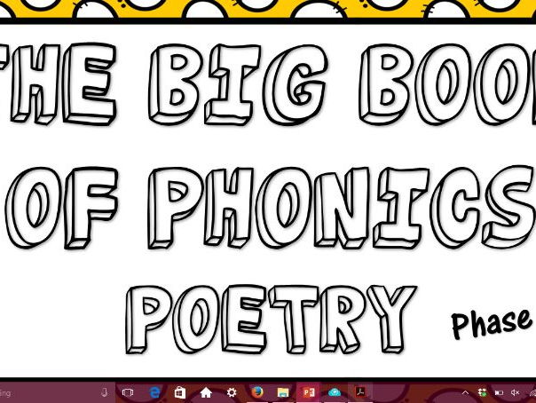 The Big Book of Phonics Poetry Phase 5- Phonics Screening check prep
