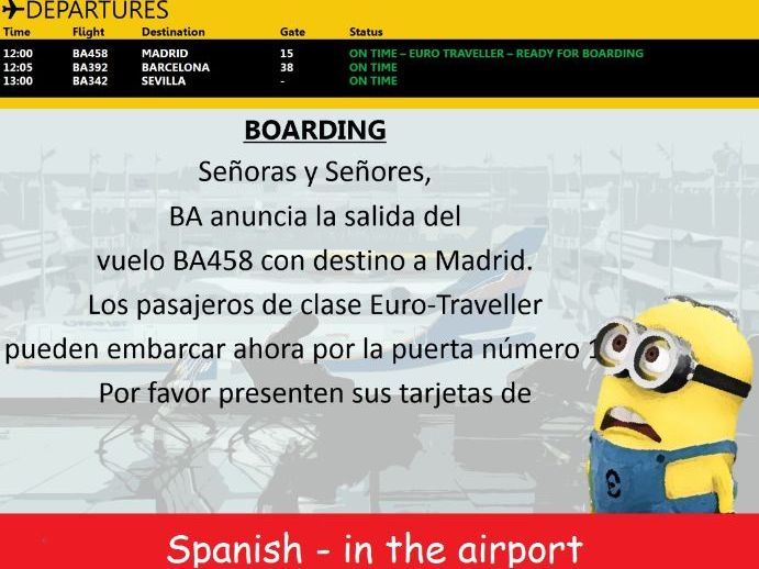 Spanish - In the airport - En el Aeropuerto