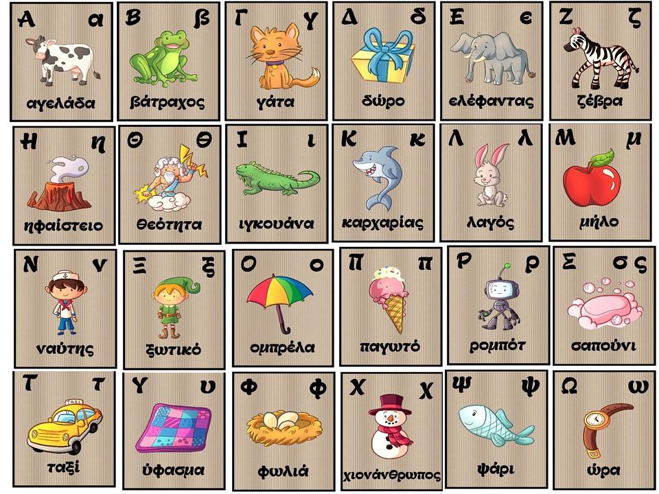 Αφίσες Ελληνικό Αλφάβητο - Greek alphabet posters,