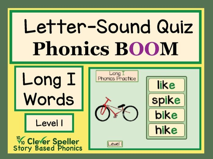 Phonics Practice Boom Cards Long I Words Level 1